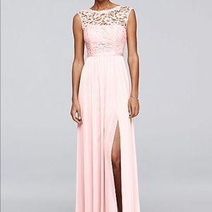 Petal Pink David's Bridal Bridesmaid Dress Size 8